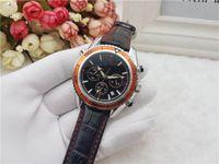 мужские часы швейцарские оранжевые оптовых-Все Subdials работа AAA мужские женщины из нержавеющей стали Кварцевые наручные часы секундомер роскошные часы Топ Марка relogies для мужчин relojes лучший подарок