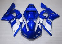 Wholesale Motorcycle Fairing Kit Yamaha Yzfr6 - New TOP quality motorcycle ABS Fairing Kits 100% Fit For YAMAHA YZF-R6 98-02 YZFR6 1998 1999 2000 2001 2002 YZF R6 white blue color