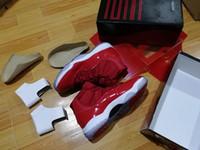 caixas de sapatos grátis venda por atacado-Desconto espaço Jam 11 Win Like 96 ginásio vermelho 11s Meia-noite Marinha 11 tênis de basquete atacado Com Box Sport Sneakers unisex tamanho navio livre