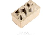 Wholesale unique bass - new Wooden Bluetooth Wireless Portable mini Speaker square shape unique With Bass Music Sounds Intelligent Call Handsfree TF Card subwoofers