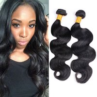 Wholesale Double Drawn Hair Extensions - Body Wave Double Drawn Virgin Hair 4 Bundles Lot Unprocessed Wet And Wavy Hair Malaysian Indian Brazilian Peruvian 7a Virgin Hair Extensions