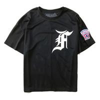 ingrosso maglia maglia uomo-T-Shirt Fear Of God T-shirt da uomo di alta qualità in mesh T-Shirt FOG Justin Biebe 2018 Collezione Skateboards Fear Of God T-Shirt