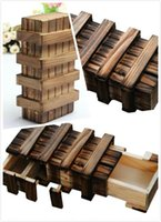 Wholesale Dance Shoe Male - Decoration Crafts Figurines Miniatures ladylook Magic Compartment Wooden Puzzle Box With Secret Drawer Brain Teaser
