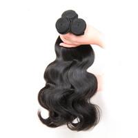 remy наращивание волос шить оптовых-8A необработанные человеческие волосы бразильский объемная волна шить в мягких и толстых девственных наращивание волос 100 г 10-30 дюймов Remy человеческих волос ткать пучки