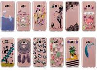 Wholesale Galaxy S4 Panda Case - Soft TPU Transparent Girl Cat Panda Style Cover Case For Samsung Galaxy S4 S5 mini A3 A5 J3 J5 J7 2016 2017