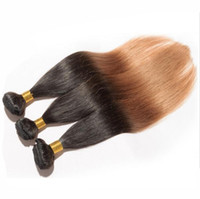 Wholesale Cheap Wholesale Bleach - 2017 cheap Wholesale 10pcs straight ombre hair extensions Dyed from remy hair free shipping free shedding 1b