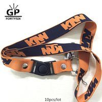 Wholesale Motorcycle Gift Metal - 10pcs lot New MOTOGP keyring cotton motorcycle keychain Orange Key Chain F1 worker card rings for KTM team fans gift