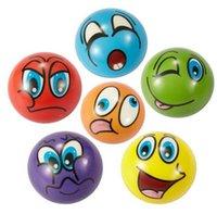 детские игрушки для мальчика оптовых-Hot Soft PU Смешные Emoji Лицо Стресс Шары Сожмите Мяч Пены Новинка Расслабьтесь Игрушки Ассорти Выражение
