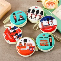 Wholesale london purse online - Fashion London Style Zipper Headphones Earphone Earbuds Hard case Storage Pouch Bag DHL Shipping