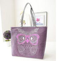 Wholesale Designer Owl Shoulder Bag - Wholesale-2015 Hot Canvas Cartoon Owl Bag Designer Retro Women Handbags High Quality Tote Shoulder Bag Shopping Bags Female