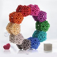 Wholesale Magnet Balls 5mm - 5mm 216pcs Neo Cube Magic Puzzle Metaballs Magnetic Ball With Metal Box Magnet Magic Toys Free Shipment