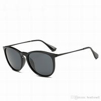 Wholesale Online Mirrors - Discount New Sunglasses Men Women Round Brand Design Glass UV protection Female Fashion Sun Glasses Matte Black Pink with cases Online Sale