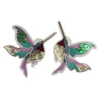 ingrosso distintivi di uccelli-2 pezzi Fiore di uccello Ricamato Patch Cucire sui vestiti Paillettes Sticker Applique Accessori fai da te Fornitori Distintivi militari solo cucire