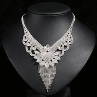 Wholesale Supply Chain Accessories - Beautiful Jewelry Sets Accessories BlingBling Necklace Chain Ring Earrings Elegant Wedding Supplies Bridal Accessories Bridal Jewelry