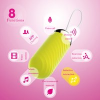 Wholesale Sextoys Vibrator - 8 Speed Silicone IOS Android App Internet Control Voice Control Jump Egg Wireless Remote Control Urethral Vibrator Electric Adult Sextoys