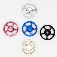 Wholesale toy bike wheels - Aluminum Fire Wheel Fidget Spinner Hot Wheel Hand Spinner Metal Finger Gyro Spinning Top Decompression Toys 5 Colors