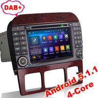 """Wholesale Car Audio Din Mercedes - 7"""" HD 2DIN Android 5.1 Car Multimedia(Car DVD Audio Radio GPS) System For Mercedes-Benz S-Class W220 CL-Class W215"""