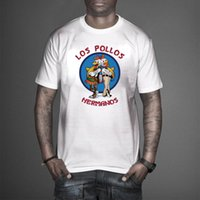 Wholesale Los Pollos Hermanos T Shirt - 100% cotton Los Pollos Hermanos T Shirts Men Chicken Brothers Man T-shirts Sitcoms Short Sleeve O Neck Cotton Shirts Rock Brand Clothing T03