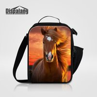 Cool Brown Horse Printing Lunch Bag para crianças Meninos Animal New Fashion Picnic Food Lunch Box Bags Mulheres Thermo Lancheira Isolated Box Lunch