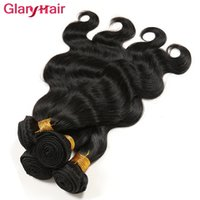 Best Selling Glary New Hair Style Brazilian Body Wave Extensions de cheveux humains Remy Human Hair Weaves Malais Indian Peruvian Bundles