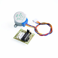 ingrosso pilota arduino-Wholesale-5pcs / lot 28BYJ-48-5V motore passo-passo 4 fasi + scheda driver ULN2003 per Arduino 10 x motore passo-passo + 10x scheda driver ULN2003