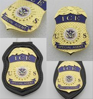 Wholesale US Immigration and Customs Enforcement Agent badge ICE Militaire Medailles Collection Dhs Department Of Homeland Security metal badge