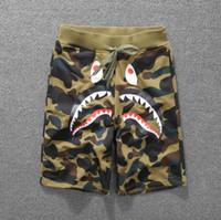 Wholesale Couples Pants - Camouflage shark mouth print casual pants men and women couples shorts pants