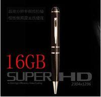 Wholesale h 264 pen - 16GB 2K HD 1296P h.264 Motion Detetction HDMI Port Memory Ball Pen Camera,1080p pen camera