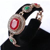 Wholesale Square Rhinestone Sliders - Square Gemstone Gold Bracelet Shining Crystal Bangles Fashion Bracelets For Women