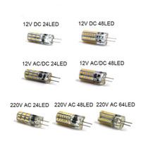 mini frio venda por atacado-Lâmpada LED G4 Mini Lâmpada de milho DC12V AC / DC12V 220V 24LED / 48LED / 64LED Branco frio / quente 1W LED pode substituir o halogênio de 10W