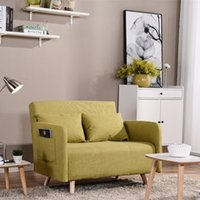 Wholesale Steel Framed Furniture - Couch Bed Sofa Sectional Sleeper Futon Living Room Furniture with Steel Frame Linen Cover Quality Rebound Foam Armrests F01D2