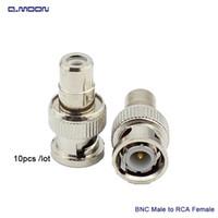 женский коаксиальный кабель оптовых-бесплатная доставка высокое качество BNC мужчина к RCA женский адаптер муфта коаксиальный кабель разъем для камеры видеонаблюдения
