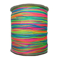 Wholesale Chinese Knot Cord 1mm - 1mm Rainbow Nylon Cord Rattail Braid Cord Macrame Rope Shamballa Bracelet Beading Cord Chinese knot String Accessories 350m Roll