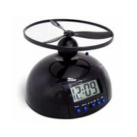 Wholesale Led Ball Alarm Clock - Flying Alarm Clock Snooze Function Creative Ball Saucer Shape Calendar Digital Backlight Novelty Flight Clocks Battery Operated 28cr F R