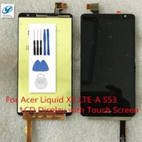 Wholesale Lcd Screen Acer Liquid - Wholesale- Black LCD+TP For Acer Liquid X1 LTE-A S53 LCD Display with Touch Screen Digitizer Smartphone Replacement