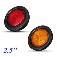 4LED Red Amber LED Clearence Truck Bus Trailer Runde Seite Marker Indikatoren Licht Signal Lampe 12V 30V