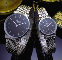 Wholesale Hong Watch - Luxury watch Hong Kong meters   MIKE8062B simple business thin men and women with steel watch male watch female couple