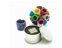 Wholesale Magnetic Ball 5mm - HOT!! 16 Colors Option 5mm 216 pcs Neo Cube Magic Puzzle Metaballs Magnetic Ball With Metal Box, Magnet Colorfull Magic Toys