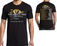 gira de la banda camisetas al por mayor-U2 The Joshua Tree Tour 2017 30th Anniversary Unisex Cool Camiseta Camiseta Plus Size XS-3XL Rock Band Camiseta
