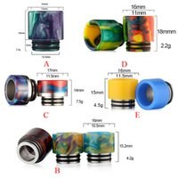 Wholesale Drip Vapor - Hottest Epoxy Resin Drip Tip Wide Bore drip tips for Smok TFV8 TFV12 Baby Tank Kennedy 24 RDA E Cig Vapor DHL