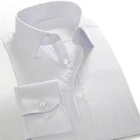 Wholesale Sleeve Fit Shirt China - Wholesale- 2016 Autumn Plus size 8XL White Shirt Slim Fit Men's Long Sleeve Business Shirts Cheap High Quality Big Size China Dress shirts