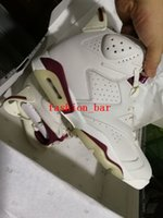 Wholesale Free Online Shipping - Maroon retro 6 6s retro new maroon Online wholesale best quality unisex basketball shoes size eur 36-47 free shipping