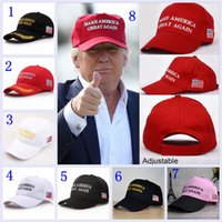 Wholesale Cotton Ball Wholesale - Make America Great Again Hat Donald Trump Republican Snapback Sports Hats Baseball Caps USA Flag Mens Womens Fashion Cap YYA206