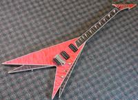 Wholesale Floyd Rose Body - Super Rare Ed Roman Vinnie Vincent Flying V Electric Guitar Floyd Rose Tremolo Bridge Ebony Fingerboard