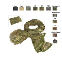 Wholesale Headscarf Camouflage - Multi Purpose Airsoft Paintball Shooting Equipment Face Neck Protection Headscarf Veil Neckerchief Tactical Airsoft Camouflage Scarf