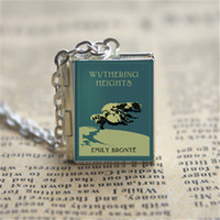 Wholesale Vision Gifts - 12pcs Wuthering Heights Book Locket Necklace, BRONZE tone VISION 5z1