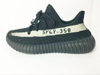 Wholesale Rice Boxes - 2017 350 Boost V2 by1604 Black rice white 350 boost size eur 36-48 350 v2 Kanye West Running shoes With Box,Receipt,socks