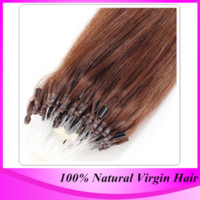 "Wholesale Micro Loop Remy Peruvian - Free Shipping 12""-24' 100G Bag Silicone 100% Remy Peruvian Micro Ring Hair Loop Hair Extensions"