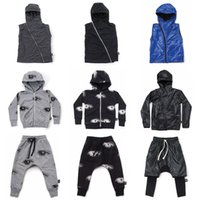 Wholesale boys zip hoodies - Hoodie Vest Coat Jackets Pants nununu Eyes Zip Autumn Winter Vestidos Girls Clothes Boys Clothing 1-6T