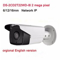 Wholesale Cctv Function - English Version Surveillance CCTV Camera DS-2CD2T22WD-I8 2.0MP EXIR Network Bullet IP Camera with PoE WDR Function